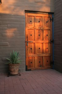 my courtyard door